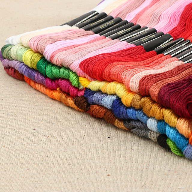 Keythemelife 100colors/lot Embroidery Thread Anchor Cross Stitch Cotton quality 8M length Floss Sewing Skeins Craft EA 2