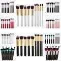 10 pcs pincéis de maquiagem profissional definida make up pó ferramentas de beleza cosméticos kit escovas maquillage eyeshadow lip brushes # bsel