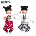 2015 Hot Sale 100% Cotton Cartoon Baby Boy Clothing Set (Romper+Hat+Pants)  Infant Newborn Baby Girls Clothes Suit Roupas Bebes