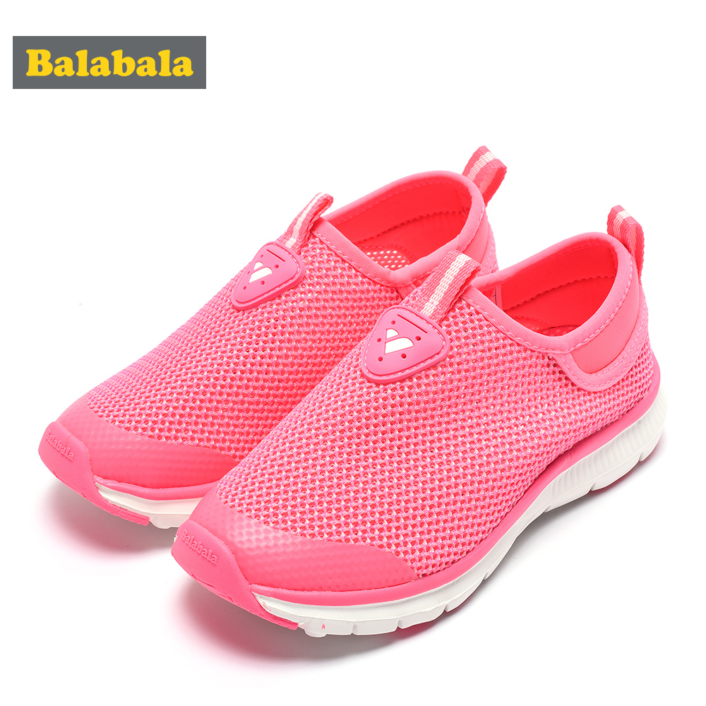 7fc24393d4 US $28.88 46% OFF Balabala 2018 summer sneaker new style boys girls casual  portability shoes kids sneakers brand children's running shoes baby-in ...