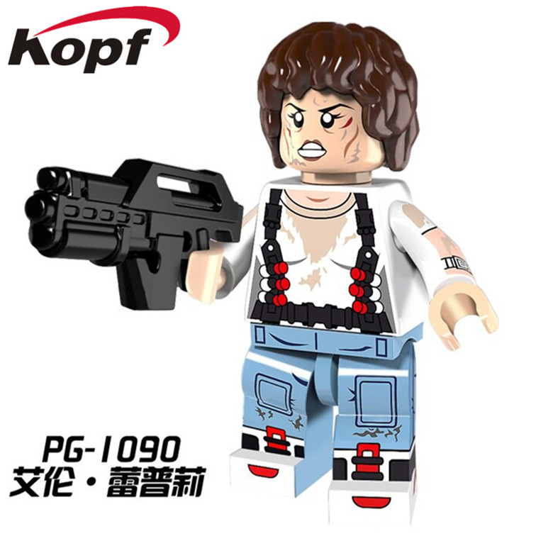 PG1090 Super Heroes The Movie Series Parasite Alien Ellen Ripley Dolls Bricks Building Blocks Action Model Children Gift Toys nematode parasite infesting lizard and their physiological effects