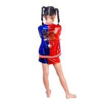 Halloween Costume 3pcs Kids Harley Quinn Cosplay Costumes For Girls Suicide Squad Costume Suicidal Jacket Costume