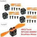 4 ШТ. Таро MT1104 4000KV Безщеточный + TL150M1 пропеллер для Quadcopter FPV multi-ротор