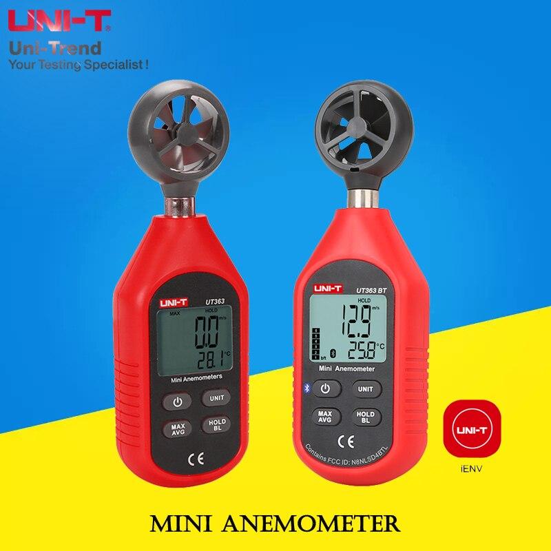 UNI-T UT363/UT363BT Mini Anemometer;mini wind speed and temperature meters/wind gauge/wind speed measurement