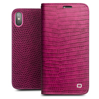 QIALINO Leather Flip Case For IPhone X Genuine Leather Luxury Women Bag Card Slot Cover For