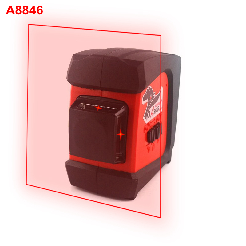 AcuAngle A8846 Laser Level Wall Meter 4 lines 360 degrees 660nm Red Gravity Leveling Instrument Laser Levels 20pcs lot tlp280 4 tlp280 4gb