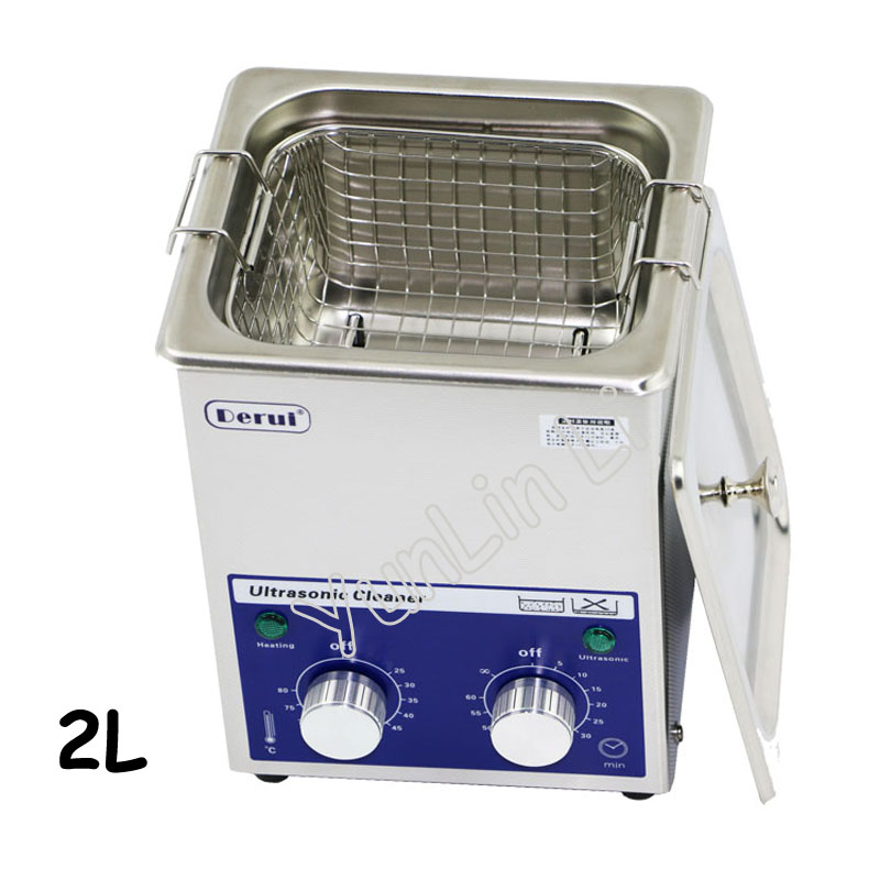 2L 80W Ultrasonic Cleaner Stainless Steel Glasser Washer Digital PCB Mechanical Jewelry Ultrasonic Cleaning Machine with Basket