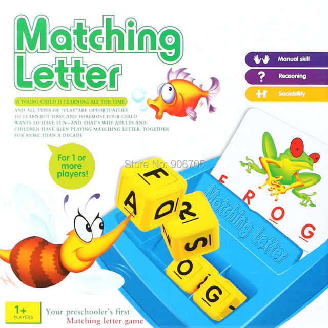 Family Fun Matching Letter Game Toy Preschooler First Matchin English Language Word ABC