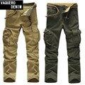 Pantalones de carga de Peso Medio Regular Venta Directa Venta Caliente 2015 Mens Militar de Algodón Pantalones Hombre Pantalones Casuales Para Hombres 328-9