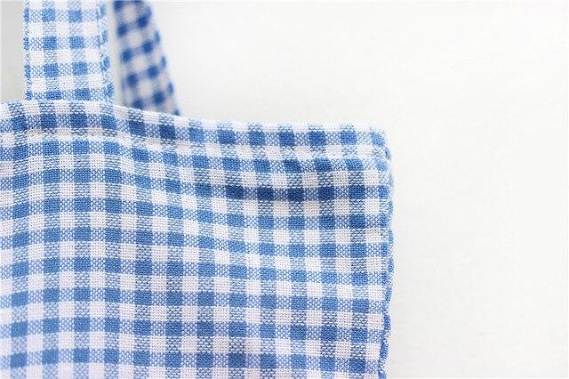 Sale New 2017 Fashion plaid Canvas Bag Women Handbag Shoulder totes Bags Women Messenger Bags