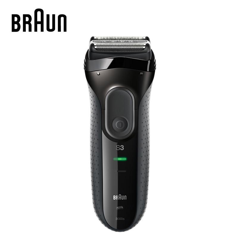 Braun Série 3 Électrique Rasoirs 3000 S Lames de Rasoir Rechargeable Haute Teneur Rasoir Électrique Rasoirs Pour Hommes