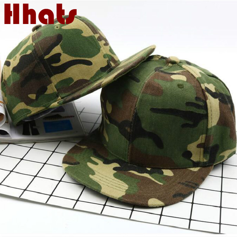 which in shower family hip hop   cap   fashion trend camo   baseball     cap   for kids boy and girl camouflage flat brim snapback hat child