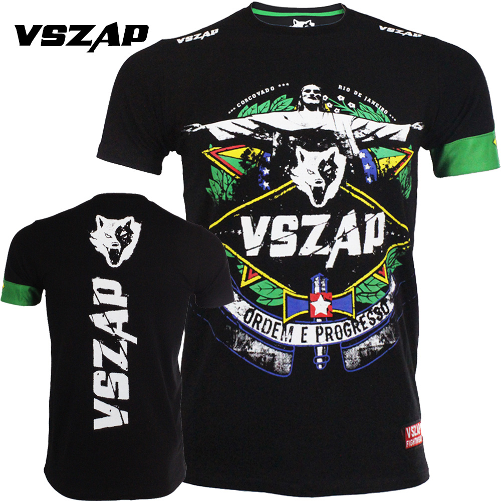 VSZAP Ropa De Muaythai T-shirt Fighting Training Fitness MMA Boxing Jujitsu Wrestle