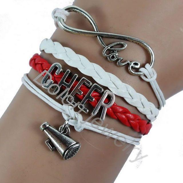 Custom Made Women Sports Charm Bracelet Cheer Mug Friendship Gift
