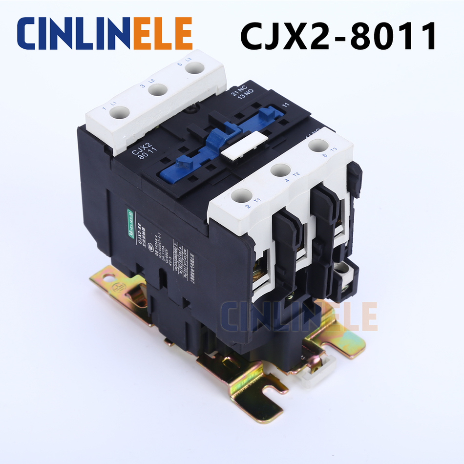 Contactor CJX2-8011 80A switches LC1 AC contactor voltage 380V 220V 110V Use with float switch stock 1pcs lot new and origian facotry original telemecanique ac contactor lc1 d50m7c