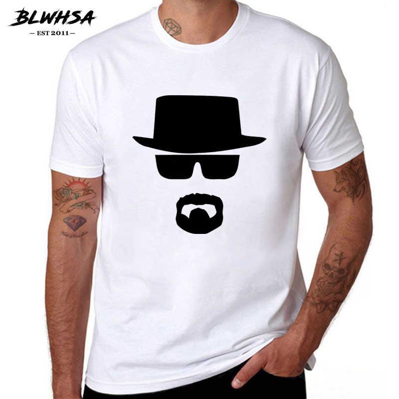 BLWHSA Breaking Bad Heisenberg Grappige Mannen T-shirt van Hoge Kwaliteit Katoen O-hals Korte Mouwen Fashion Gedrukt Mannen T-Shirts