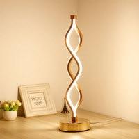 24W LED Strip Table Light 110V/220V Desk Lamp Spiral Acrylic Art Table Lamps Indoor Reading Lighting Lamp Decoration Table Light