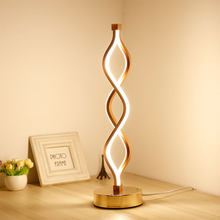 Modern LED Table Light Creative Design Spiral Acrylic Art Table Lamps For Bedroom Bedside Lamp Decoration Lighting Fixture(China)