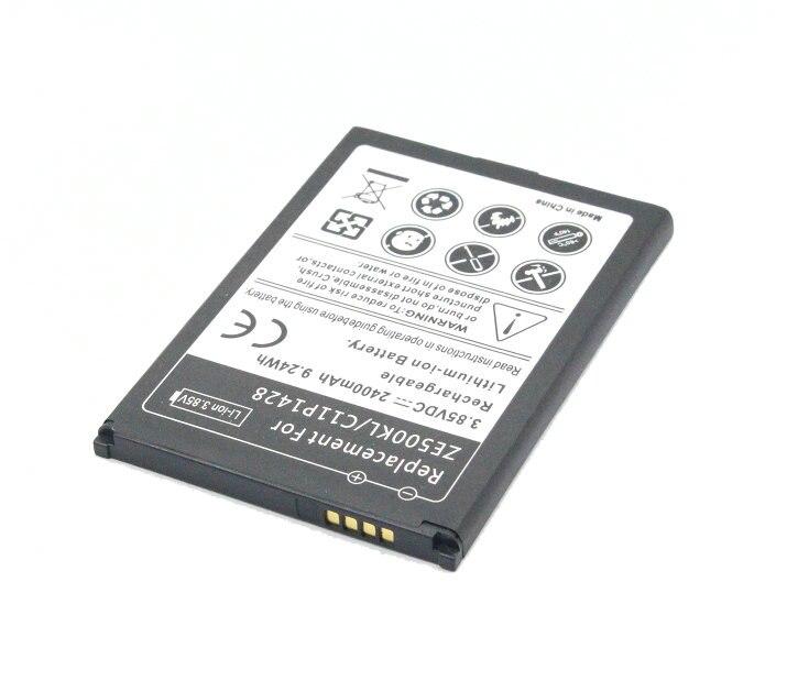 US $14.36  3x2400 mAh9.24Wh C11P1428 3.85VDC wymiana baterii + ładowarka uniwersalna dla Asus Zenfone 2 Zenfone2 laserowe ZE500KL ZE500KG battery