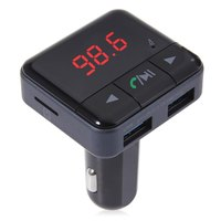 2017 Bluetooth V4 1 Dual USB Car Charger MP3 Player APP Control Wireless FM Transmitter Digital