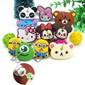 Funny animal keychain colors cartoon key chain Anime Mickey Minion Anime keycover animation key caps Children Christmas Keychain