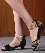 The new adult children's Latin dancing shoes dancing girls Summer shoes soft bottom women's dancing in the modern with adult