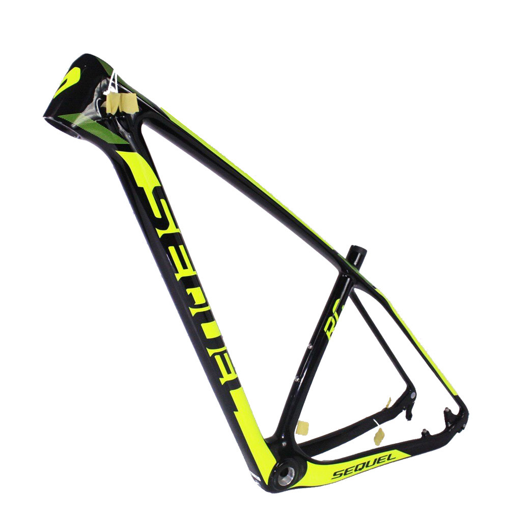 SEQUEL brand mtb bike frames on sale fluo-yellow design Toray T800 BB30/BSA 1182g+/-5g 19 frame carbon mtb 2 years warranty куртка picture organic atlas black fluo yellow
