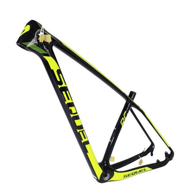 Sequel marca marcos de bicicleta MTB en venta fluo amarillo diseño ...