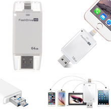 8/32/64/128 GB/256G USB i Flash Drive U диск карта памяти OTG для iPhone 5 5S 6 6plus 7 8 для iPad 4 Air Mini 2 3 4 Android