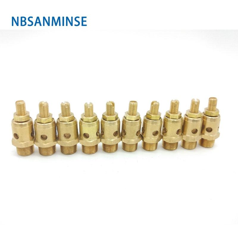 10Pcs/lot PDK 1 Pneumatic Parts Exhaust Muffler Throttle Valve Silencer Brass Fitting Sanmin