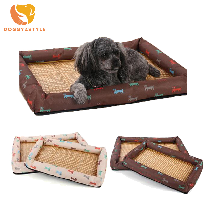 2 Colors Soft Pet Dog Cat Bed Summer Cool Blanket Non-Woven Fabric Cooling Bed Cushion Basket Pad Mat Small Medium Large Sized