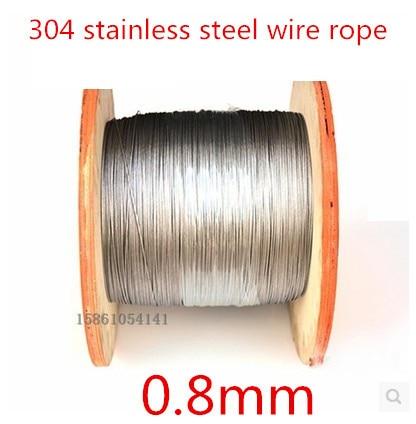 Высокое Качество 100 м 0.8 мм 7*7 из нержавеющей стали,