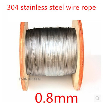 High Quality 100 Meters 0.8mm 7*7  Stainless Steel Wire Rope,
