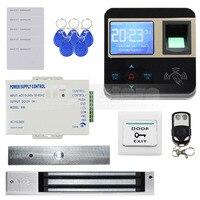 Diysecur отпечатков пальцев ID Card Reader 125 кГц двери Система контроля доступа + 280 кг комплект магнитный замок