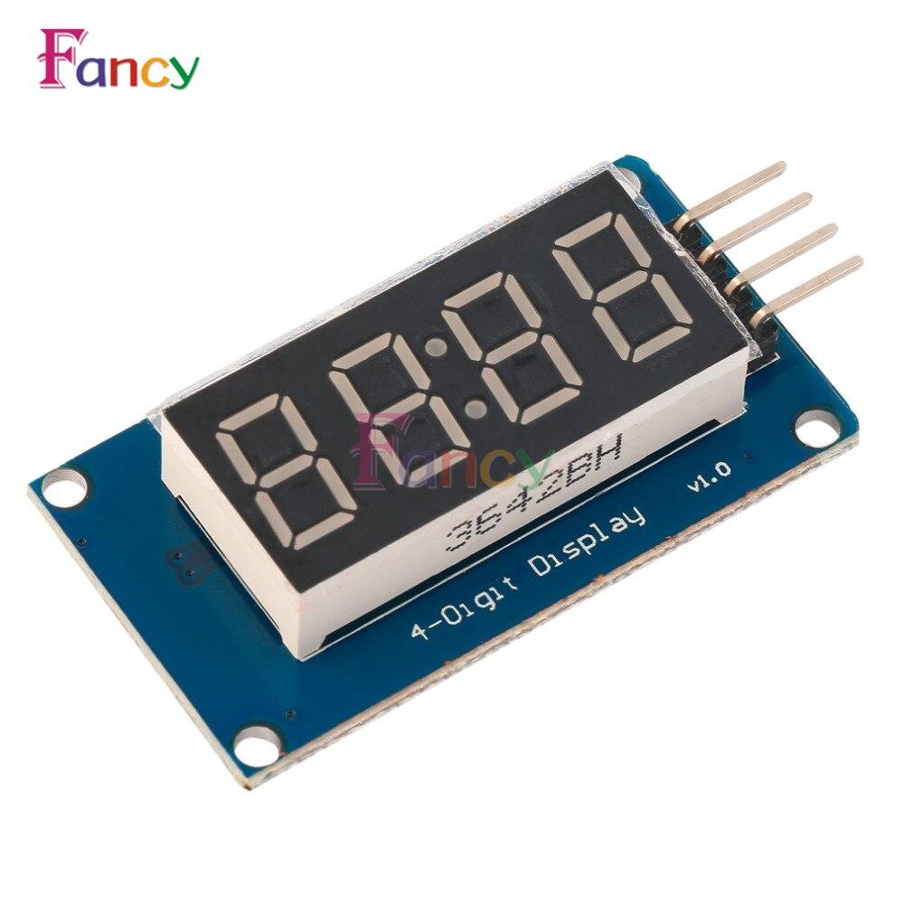 TM1637 светодиодный Дисплей модуль для Arduino 7-сегментный 4 биты 0,36 дюйма часы красный анод цифровой трубки четыре последовательных драйвер паке...