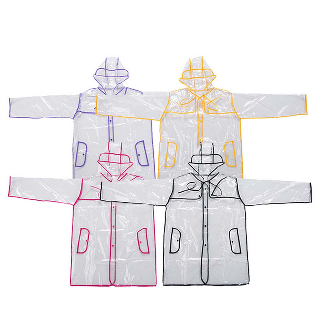 1 pcs random color Fashion women's transparent EVA raincoat outdoor travel waterproof rain coat
