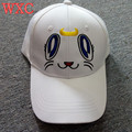 Cosplay Sailor Moon Cat Luna Branco Cap Lona Chapéu Ajustável de Beisebol Bonito do Anime Neko Atsume