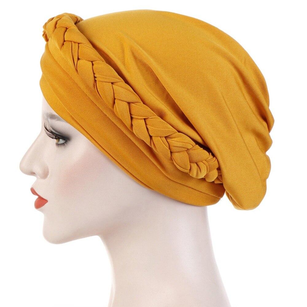 Fleur Coiffure Plissé Floral Parti turban Femmes Perte De Cheveux Wrap Cap Musulman Hijab