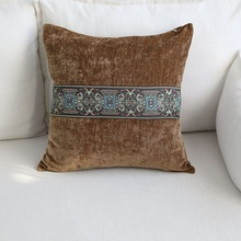 La nueva Europa bordado Vintage tira gran almohadas cojín cubierta para funda de cojín de decoración para hogar sofá funda de cojín para espalda