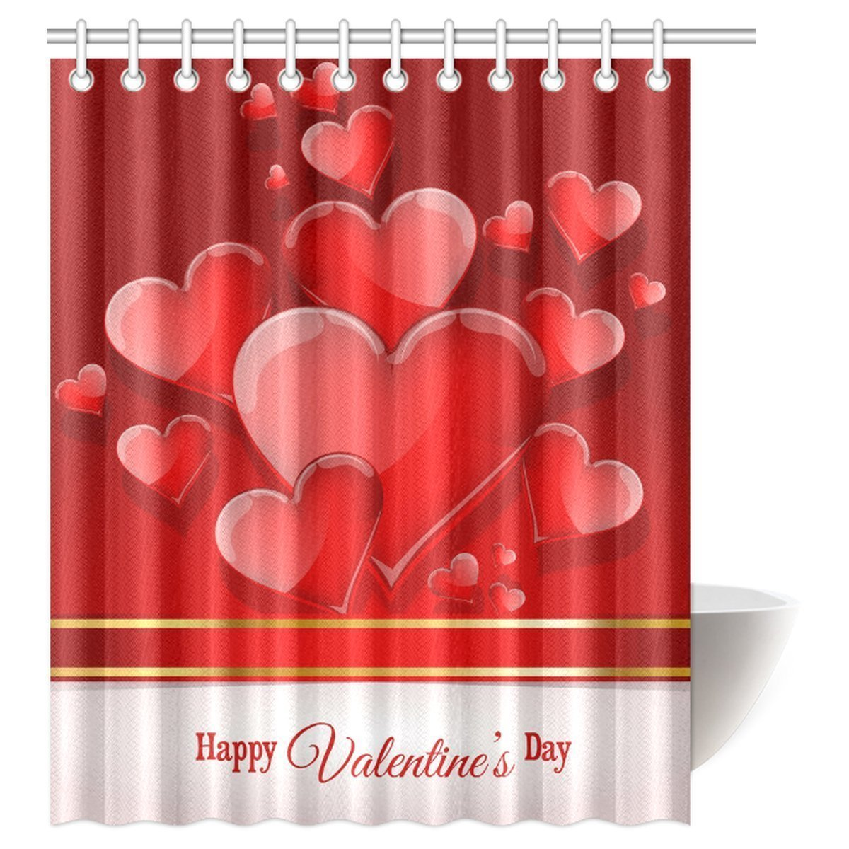 Memory Home Valentines Day Love Waterproof Polyester Fabric Shower Curtain  Funny Bathroom Decoration Red Heart Picture - Online Get Cheap Valentine Shower Curtains -Aliexpress.com