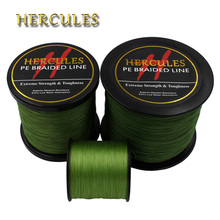 Hercules PE Braided Fishing Line Army Green hengelsport multifilament Cord 4 Strands 100M 300M 500M 1000M 1500M 2000M