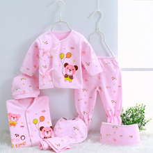 Newborn baby gift infant cotton Cartoon underwear (5pcs/set) (7pcs/set)