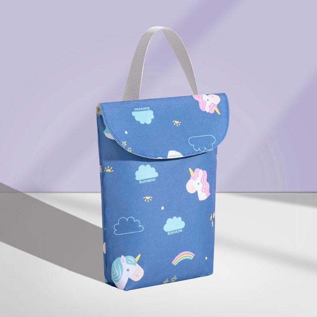 Baby Diaper Organizer Reusable Waterproof Fashion Prints Wet/Dry Bag Mummy Storage Bag Travel Nappy Bag