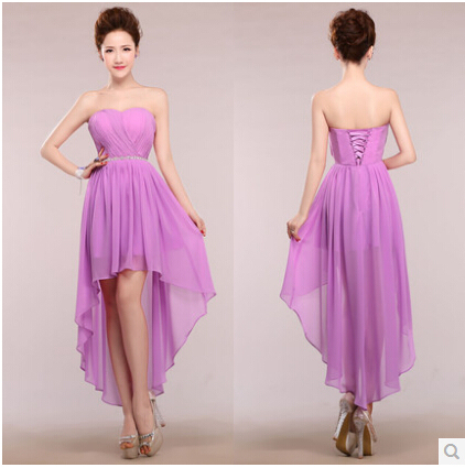 abc12e2c5958 flower ruffle off shoulder hot pink purple blue black colored chiffon long  ball party gown bridesmaid dresses