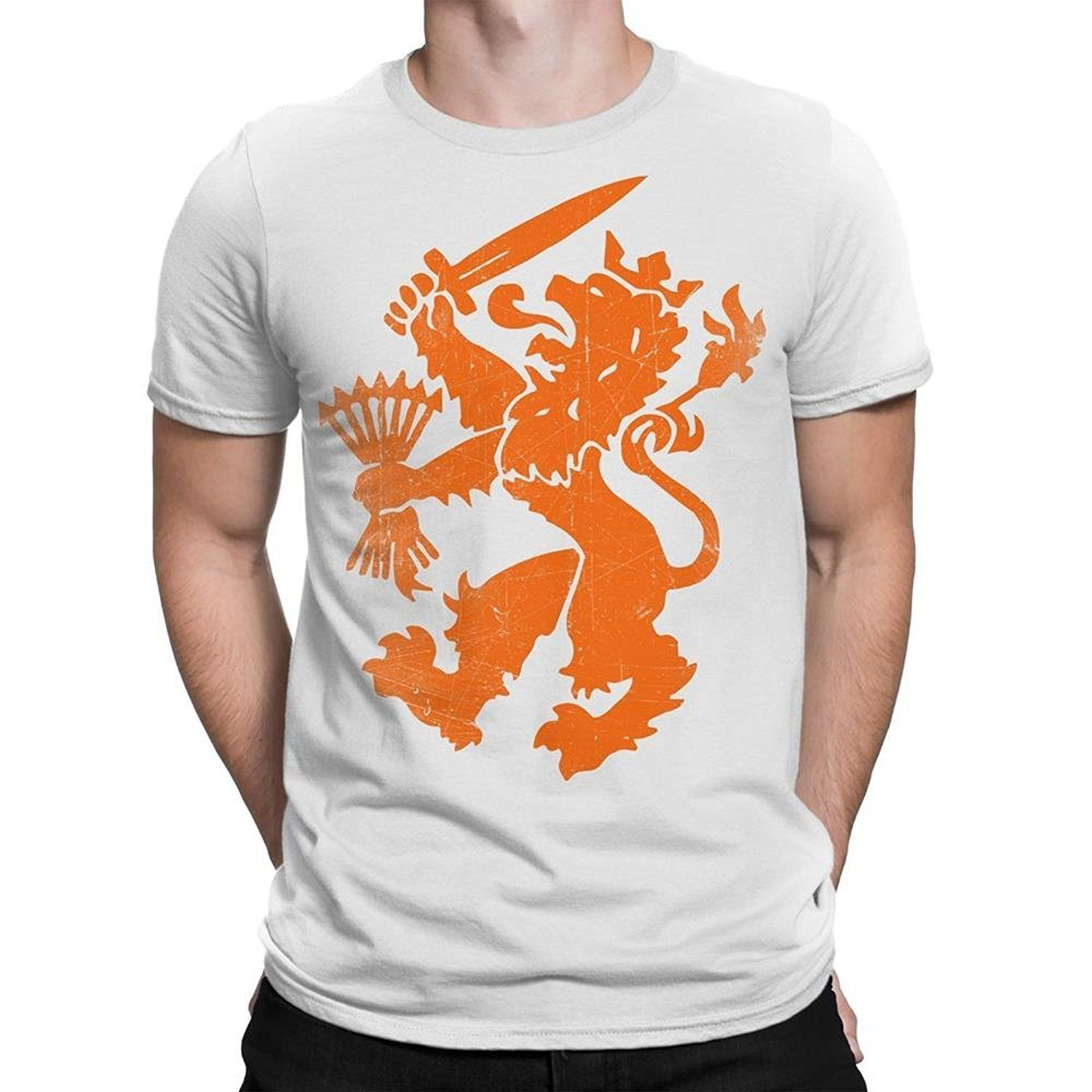Nyc Factory Netherlands T-Shirt Dutch Oranje Lion Men Tee netherlands-tee-men-b Free shipping Tops Fashion Classic Unique