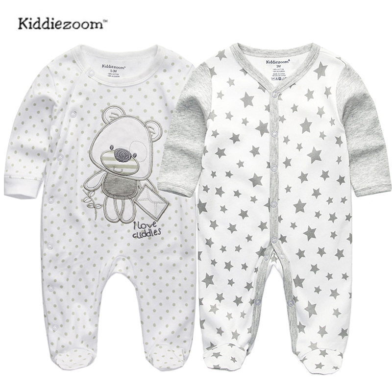 2018 baby clothes Full Sleeve cotton infantis baby clothing romper cartoon costume ropa bebe 3 6 9 12 M newborn boy girl clothes(China)