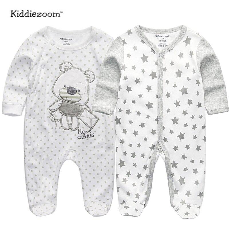 2018 bébé vêtements Pleine Manches coton infantis bébé vêtements barboteuse de bande dessinée costume ropa bebe 3 6 9 12 M nouveau-né garçon fille vêtements