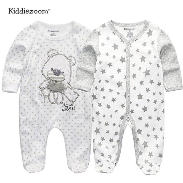 2018 תינוק בגדים מלא שרוול כותנה infantis תינוק בגדי romper קריקטורה תלבושות ropa bebe 3 6 9 12 M יילוד ילד ילדה בגדים
