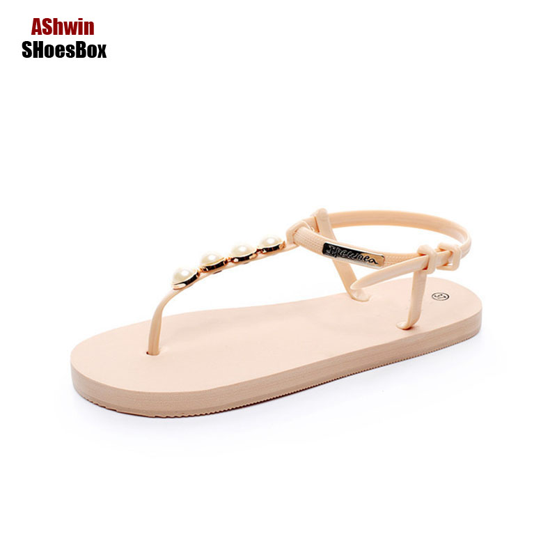 summer flip flops woman flats fashion flat sandals holidays beach shoes pearls thong slippers cheap light shoes gladiator sandal new 2017 summer style outside flip flops fashion slippers beach flat shoes woman sandals snake sandalias fashion slippers free