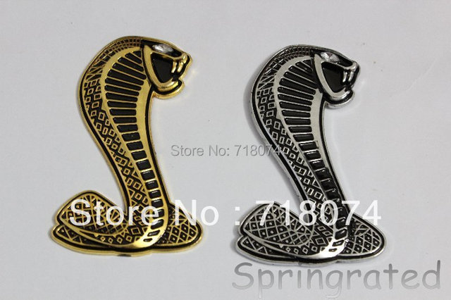 Free shipping Mustang Cobra Shelby Snake Emblem Badge decal sticker 3d Logo metal adhesive